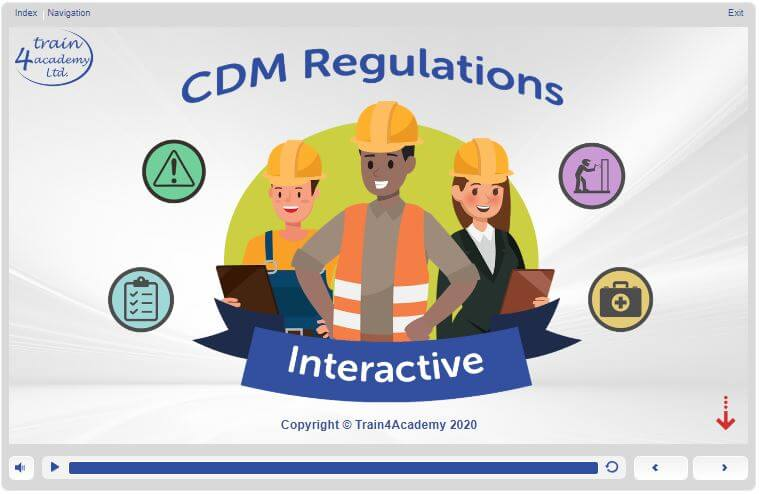CDM Regulations Training - Welcome Screen