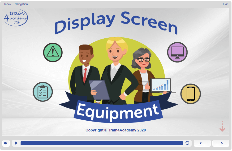 Screen 1 - 1.1  - Display Screen Equipment (DSE) Training Course