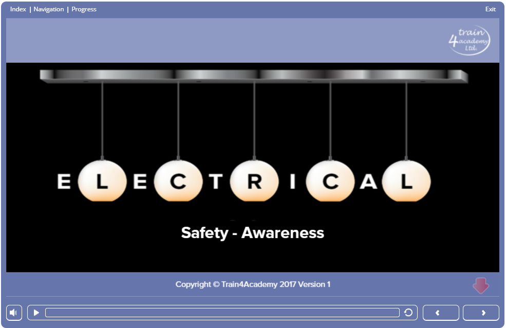 Screenshot 1.1 - Electrical Safety Course Online