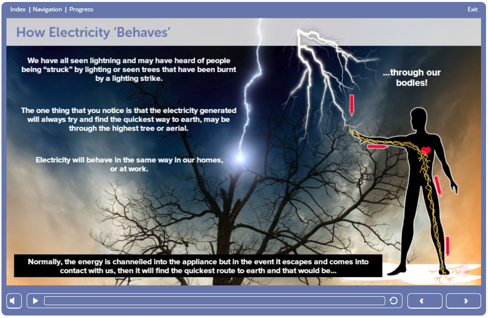 Screenshot 1.8 - Electrical Safety Course Online