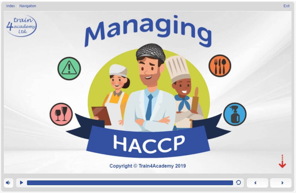HACCP Level 3 Training in Managing - Welcome Screen