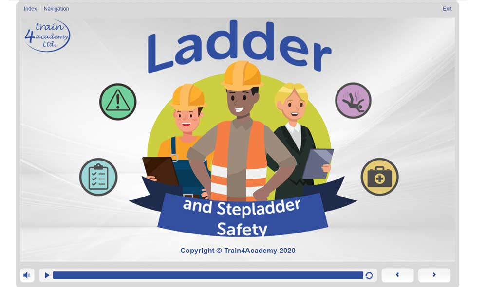 Ladder and Stepladder Safety Training - Welcome Screen