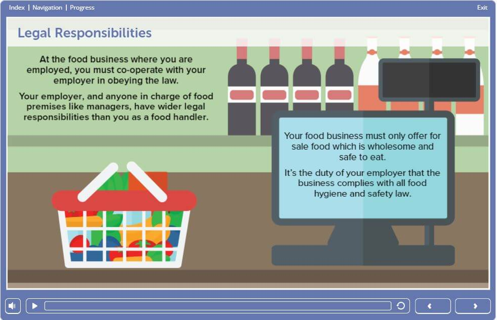 Level 1 Food Safety in Retail Training - Legal Responsibilites
