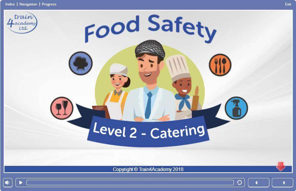 Level 2 Food Safety & Hygiene Training in Catering - Welcome screen