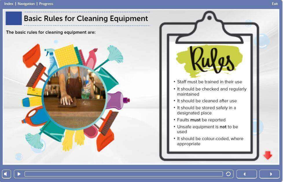 Level 2 Food Safety & Hygiene Training in Catering - Basic rules for cleaning equipment