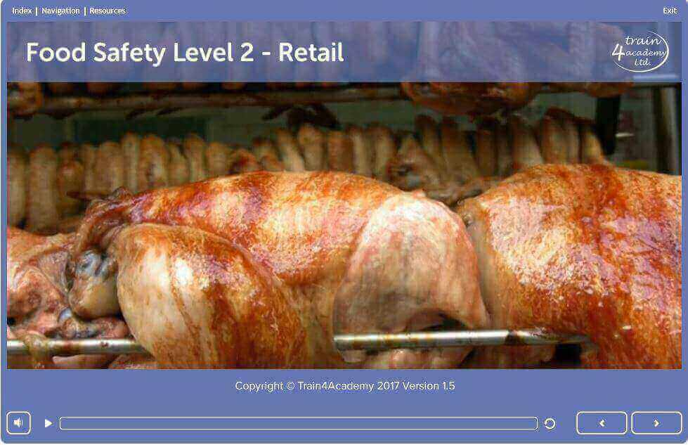 Level 2 Food Safety in Retail Training - Welcome screen