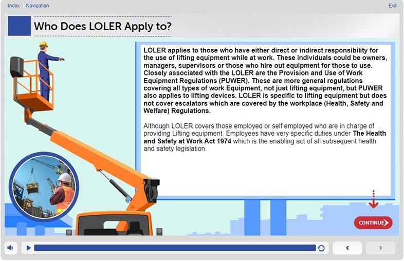 The Key Requirements – Level 1 - Training in LOLER