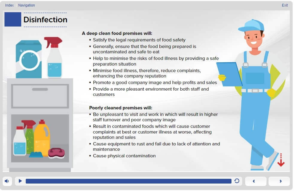 Managing Disinfection and Hygiene - Module 1-Screen 1.11