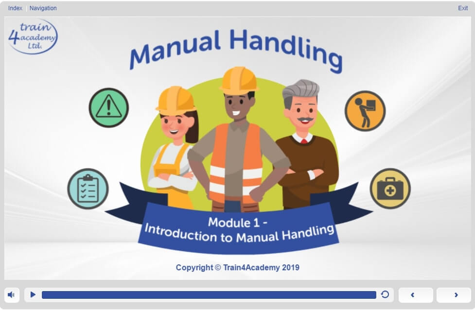 Screen 1.1 - Online Manual Handling Course