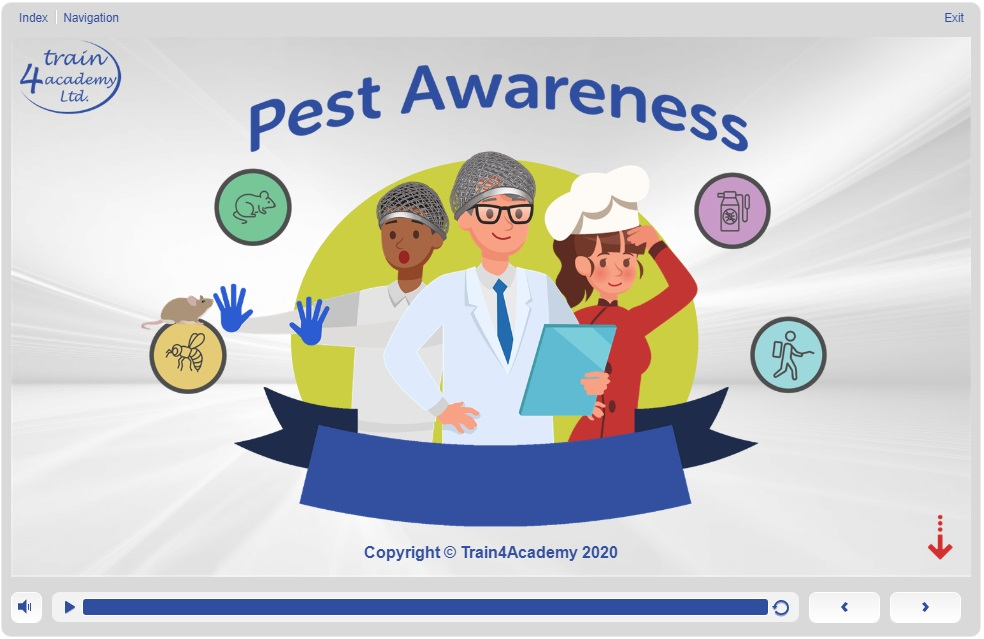 Title Screen - Pest Awareness Course Slide 1