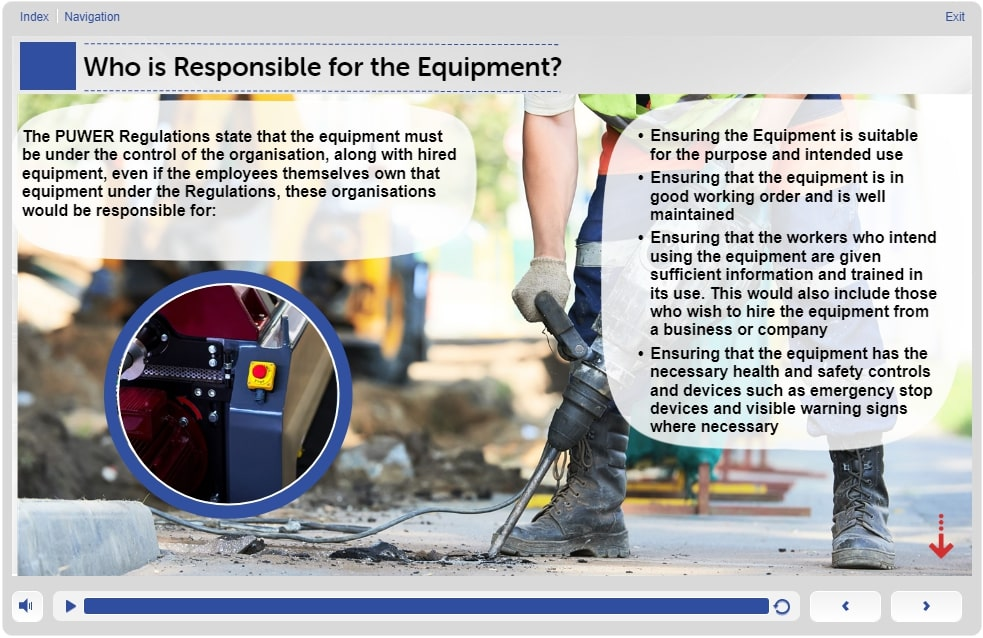 The Key Requirements – Slide 3 – Level 1 - Training in PUWER