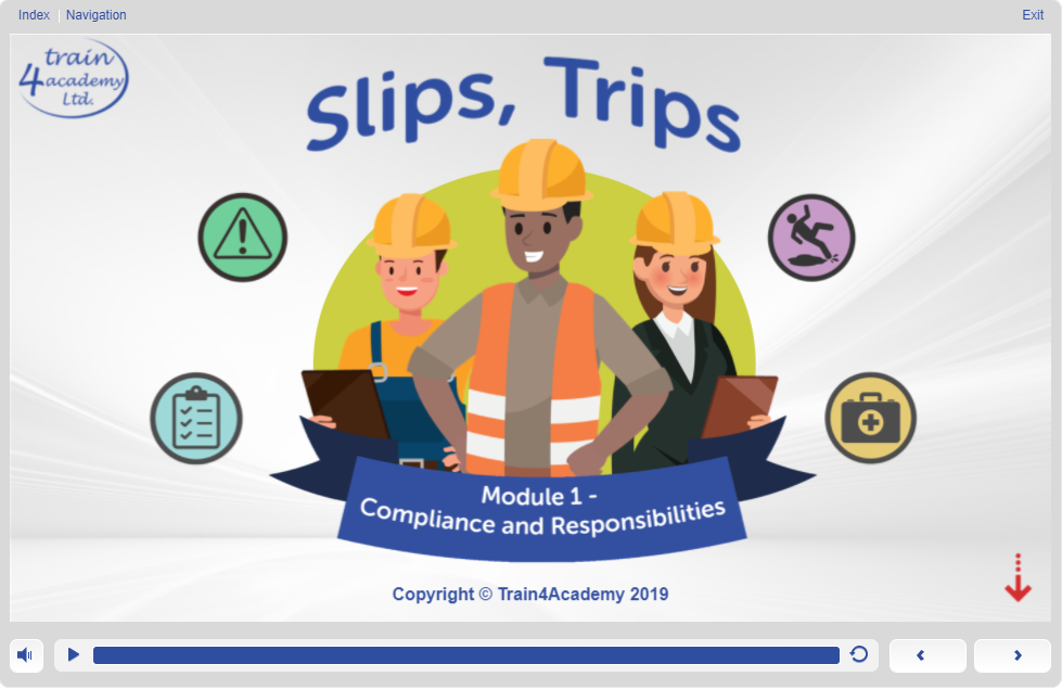 Screen 1.1 - Slips Trips and Falls Training