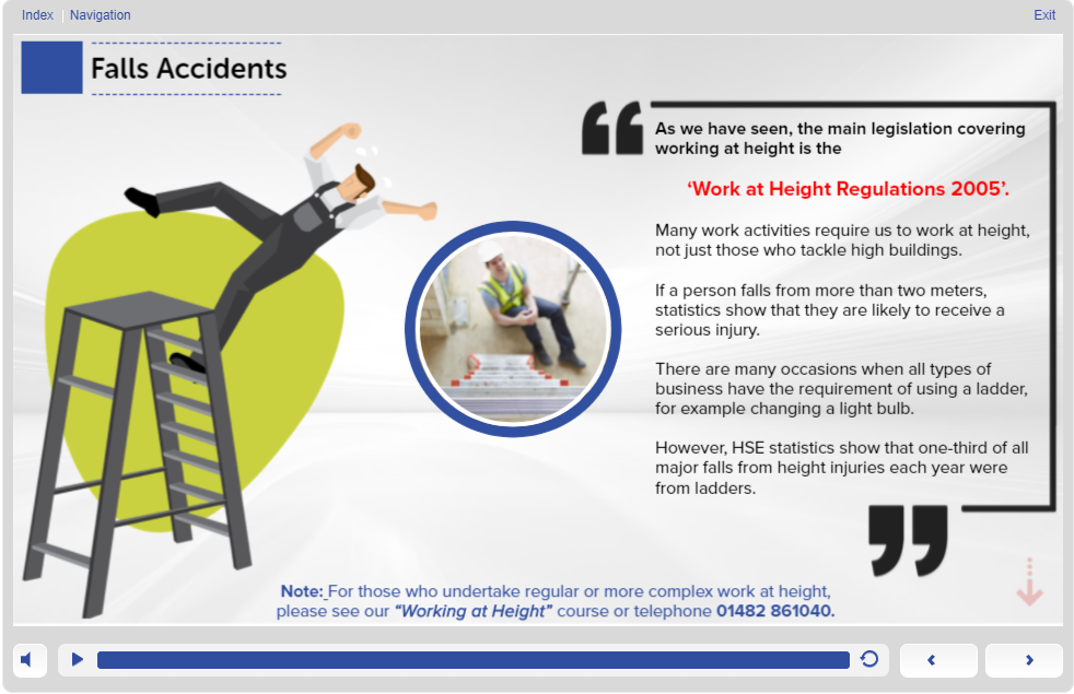 Screen 1.7- Slips Trips and Falls Training
