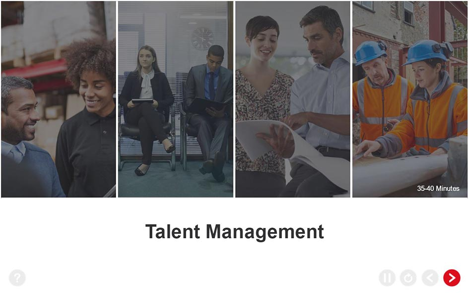 Talent Management Training - Welcome Screen